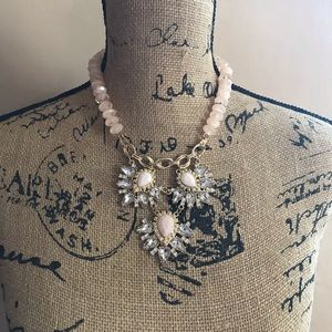 New York & Company Gold, Peach Statement Necklace